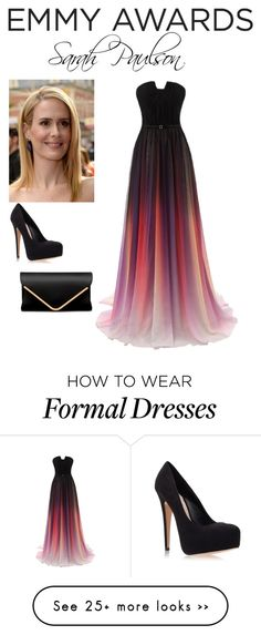 """Sarah Paulson"" by sarah-larg on Polyvore featuring Carvela Kurt Geiger"