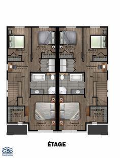 Town House Floor Plan, Narrow Lot House Plans, Small House Floor Plans, Model House Plan, Family House Plans, 2 Storey House Design, Sims House Design, Townhouse Designs, Duplex House Design