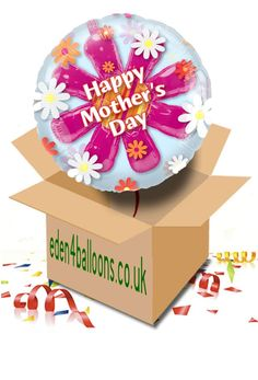 Mothers Day Balloon in a Box Mothers Day Balloons, Gifts Delivered, Flowers Delivered, Happy Mothers Day, Christmas Bulbs, Bouquet, Holiday Decor, Box, Floral