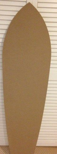 5ft mdf wooden surf surfboard shape unfinished for parties decorations
