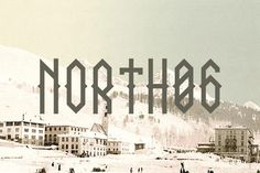 NORTH 06 font - A true north font, inspired by the black metal culture but more readable. Font format : .ttf  Design by David Alexander Slaager
