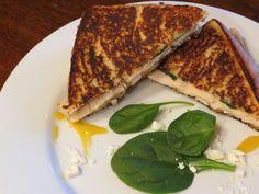 Grilled Feta, Chicken, and Honey Mustard Sandwich