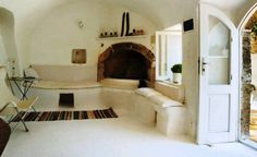 arched rooves illusion of space Summer House, Island of Kythira, Greece - mediterranean - bedroom - other metro - Vanni Archive/Architectural Photography Houses Architecture, Interior Architecture, Interior And Exterior, Interior Design, Mediterranean Bedroom, Mediterranean Homes, Greek House, Tiny Homes, My Dream Home