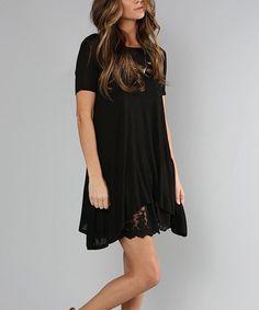 Black Alyssa T-Shirt Dress #zulily #zulilyfinds