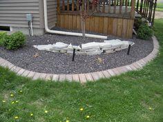 brick paver edging/ residential landscape/ kieferlandscaping