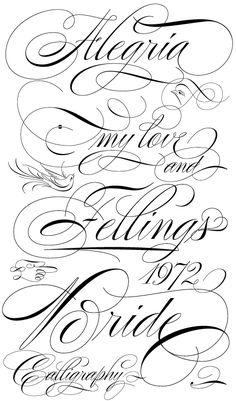 calligraphy swashes - Поиск в Google