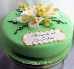 Torta Promessa Matrimonio Calle e Mimose