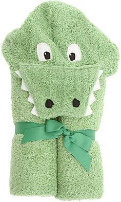 Yikes Twins Alli Gator Hooded Towel
