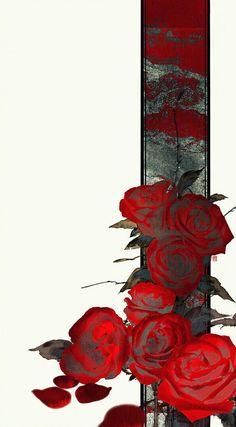 Cre: On pic - Modern Flower Wallpaper, Wallpaper Backgrounds, Iphone Wallpaper, Oriental Wallpaper, Gfx Design, Bild Tattoos, Hypebeast Wallpaper, Islamic Art, Chinese Art