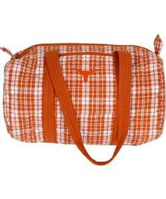 Texas Longhorn Plaid Duffle Bag. (regular price $74.99) Now just $44.99.