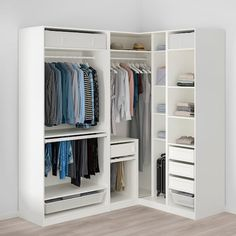 Armoire D'angle, White Mirror, Mirror Glass, Plastic Shelves, Ikea Family, Closet Bedroom, Corner Wardrobe Closet, Ikea Pax Wardrobe, Wardrobe Storage