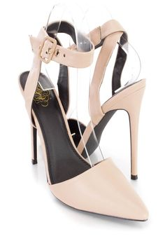 These sexy and stylish single sole heels feature a faux leather upper with a pointed closed toe, scoop vamp, wrap around ankle strap with a side buckle closure, smooth lining, and cushioned footbed. Approximately 5 inch heels.