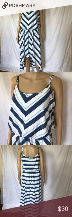 SEVEN  7 Supersoft Hi-lo dress size large This is so comfortable and in excellent condition. Size large. Very nicely lined, this is very very soft. I just double straps it is just a tiny bit lighter than the pictures depict. No holes to stains or tears Seven7 Dresses High Low