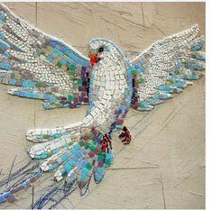 Dove of Peace, mosaic #StainedGlassMosaic