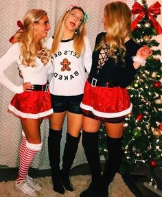 Christmas party outfits, tacky christmas outfit и tacky christmas. Christmas Costumes Women, Tacky Christmas Outfit, Couple Christmas, Christmas Party Outfits, Christmas Pajamas, Christmas Sweaters, Xmas Party, Pullover Outfit, Ugly Xmas Sweater