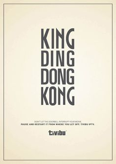 King Ding Dong Kong. Don't let the doorbell interrupt your movie. - Tivibu