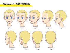 """いろんな角度の""""顔""""を描く方法 [9]"""