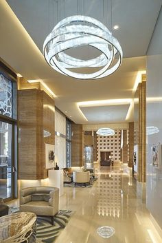 Kempinski Hotel Mall of the EmiratesWindfall  Contemporary Crystal Lighting   CODE   IF Lighting  . Lounge Lighting. Home Design Ideas