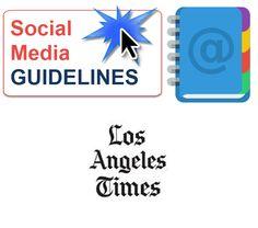 LA Times Social Media Guidelines written in a memo format.