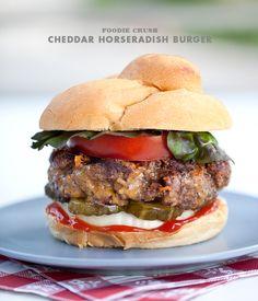 Cheddar-Horseradish Burger