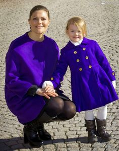 Crown Princess Victoria & Daughter Heir Apparent, Princess Estelle 2015