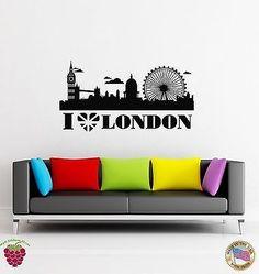 Wall Stickers Vinyl Decal I Love London England Travel Europe British (z1613)