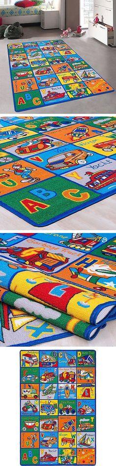 Rugs 154001: Kids Baby Room Daycare Classroom Playroom Area Rug. Abc  Transportation.