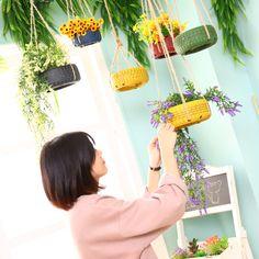 美式创意轮胎植物挂饰教室装饰品幼儿园空中吊饰挂墙花盆墙饰挂件