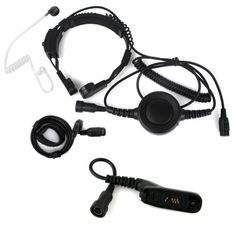 Professional Tactique Military Police FBI Bodyguard Flexible Throat Mic Microphone Large Armpit PTT Covert Acoustic Tube Earpiece Headset with Finger PTT for Motorola XPR6500 XPR6550 XPR6580 APX7000 APX6000 Radio ** Want additional info? Click on the image.