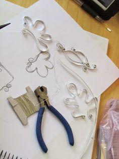 Wire frames for polymer clay. Técnica de alambre y arcilla Polimérica by Fabi