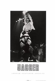 Mick Jagger Anon LF12  Paper: 27 1/2 x 19 3/4 Image: 17 1/4 x 12 1/8   Retail $20.00