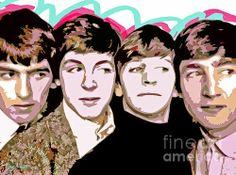The Beatles Love Print By David Lloyd Glover