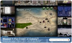 On-line role-playing game about the Boston Tea Party and beginnings of the American Revolution
