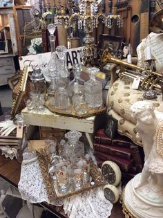 Aquamarina Antiques at Sweet Salvage on 7th Ave. Where In the World show June 2014. New Orleans French Quarter.