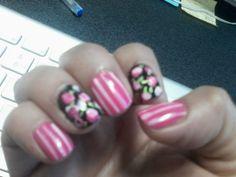 Mis pruebas, decoracion de uñas tipo rosas