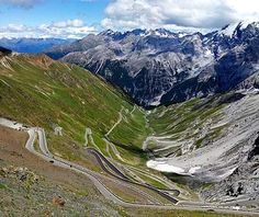 Passo dello Stelvio, Italy 2 of 13   The Road: Topping out at just over 9,000 feet, Italy's Passo dello Stelvio is the second highest mountain pass in the Alps and—thanks to 48 tightly coiled hairpin turns—arguably the most spectacular. Scaling the northern side in a seemingly never-