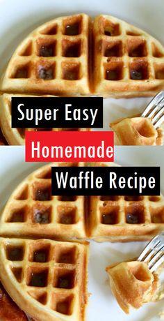 Tremendous Straightforward Do-it-yourself Waffle Recipe Dessert Cake Recipes Waffle Batter Recipe, Waffle Mix Recipes, Breakfast Waffle Recipes, Best Waffle Recipe, Breakfast Dishes, Pancake Recipes, Vegan Breakfast, Breakfast Ideas, Homemade Waffle Mix
