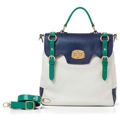 spring 2012 colorblocking, 71104 rectangular bag with optional handles