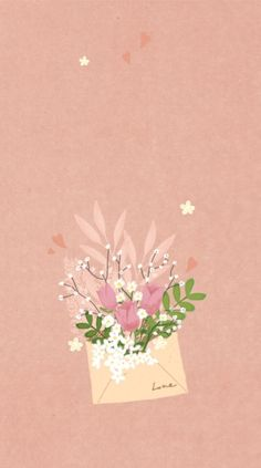 Mood Wallpaper, Aesthetic Pastel Wallpaper, Aesthetic Wallpapers, Backgrounds Girly, Wallpaper Backgrounds, Iphone Wallpaper, Watercolor Cards, Floral Watercolor, Floral Illustrations