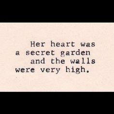 Heart secret garden with high walls