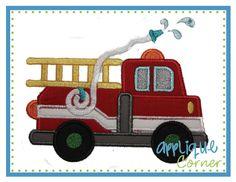 Firetruck Applique Design