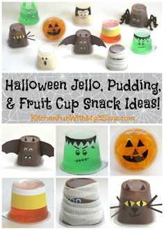 Pudding, Fruit, & Halloween Jello Cups for Kids that takes just minutes to…