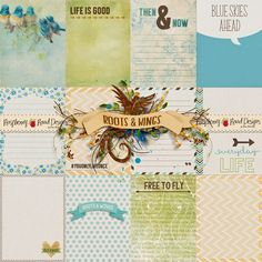 FREE Roots And Wings Journal Cards Freebie by Raspberry Road Designs