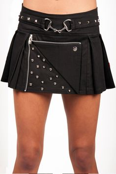 Tripp NYC Stud MC Pleated Mini Skirt - TrashandVaudeville.com