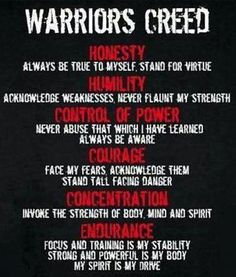 warriors creed Check out all of the fitness tips, workout ideas and martial arts info www. Wisdom Quotes, Me Quotes, Motivational Quotes, Inspirational Quotes, Qoutes, Heath Ledger Zitate, Richard Branson Zitate, Martial Arts Quotes, Martial Arts Workout