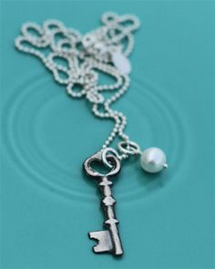 vintage key to my heart necklace from The Vintage Pearl. $49
