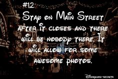 Disneyland Amazing Tips 2019 - Stay on Main Street after the park closes. No one& be there = aweseome pho. Disneyland Secrets, Disneyland Vacation, Disney Vacations, Disneyland Hacks, Family Vacations, Cruise Vacation, Disney Cruise, Vacation Destinations, Disney Fun Facts