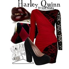 Harley Quinn, created by lalakay on Polyvore DC Comics