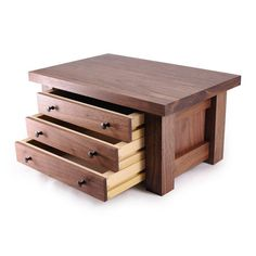 Mission Jewelry Box Walnut Three Drawers by krtwood on Etsy