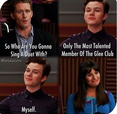 Rachel's face! #glee season 2 episode 4 duets